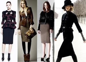 Как носить классическую юбку-карандаш с верхней одеждой