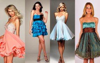 Как выбрать короткое платье на выпускной