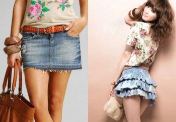 С чем носить мини-юбку