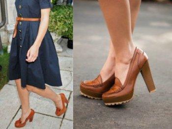 С чем носить коричневые туфли
