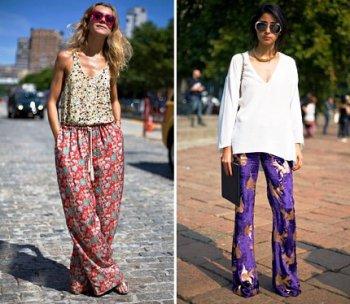 С чем носить пижамные брюки