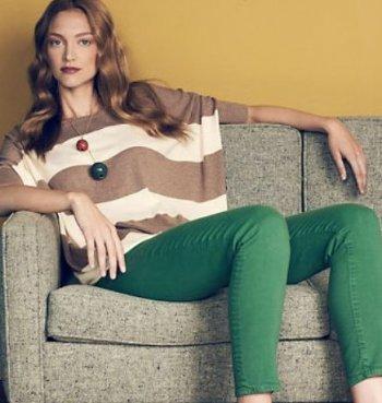 С чем носить зеленые джинсы
